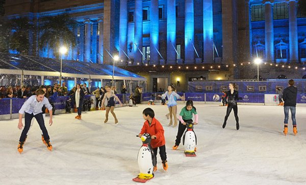 Snow, skates and sleds return to King George Square for the new Skating At Festival