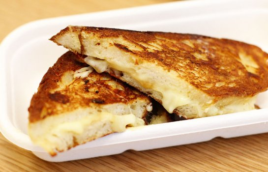 Snack on three-cheese toasties and gourmet goodies at The Cheese Pleaser in The City