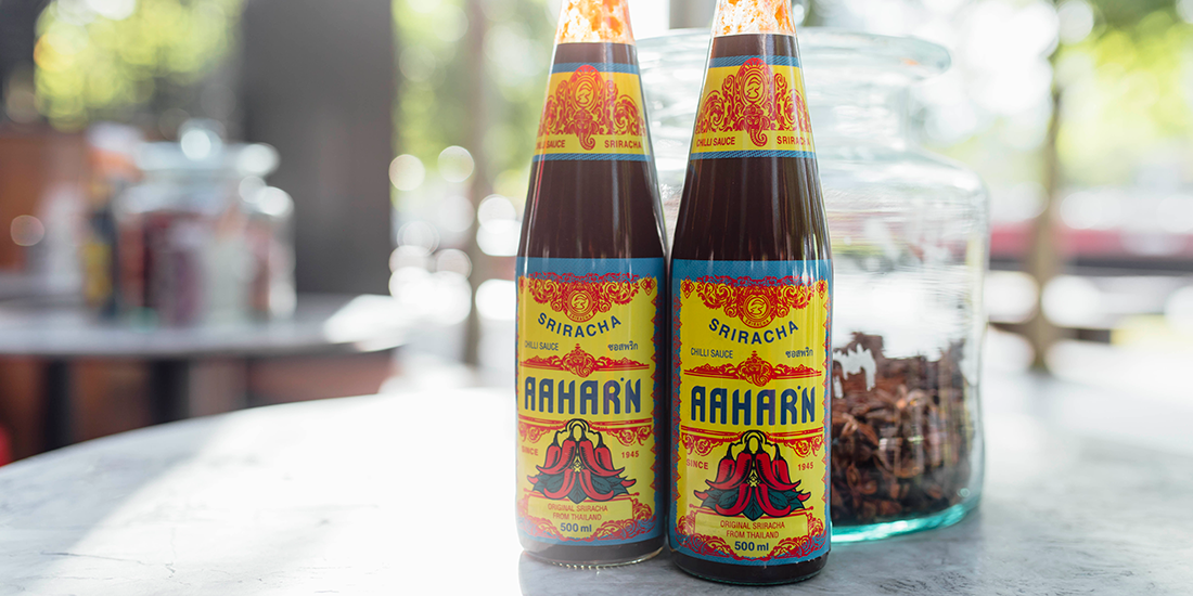Spice up your home cooking with a dash of Long Chim's own Aahaarn Sriracha
