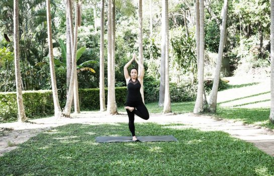 Forest bathing yoga
