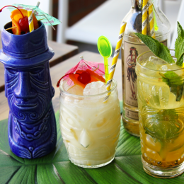 Crown & Co. Barbers unveils boozy California Lane extension King Tiki