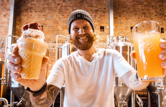 Stone & Wood has stirred up an Ekka-inspired strawberry-sundae beer