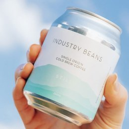 Crack a tin of sparkling cold-brew coffee from Industry Beans