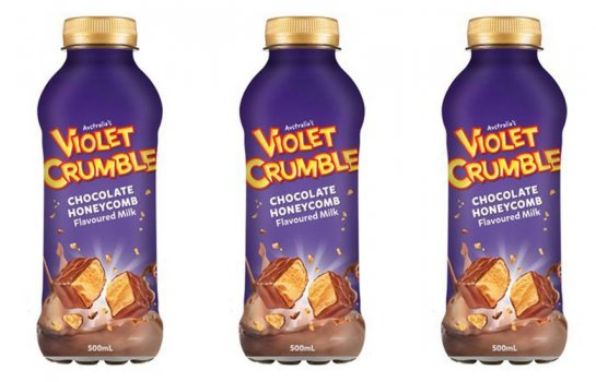 Sweet dreams are made of Violet Crumble chocolate-honeycomb flavoured milk