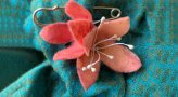 Artist In Residence – Felt Flower Brooch: In the gardens with Michelle Pujol