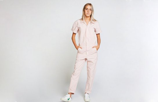 Look sharp on the job and beyond in pastel-hued coveralls from Worktones x Business & Pleasure