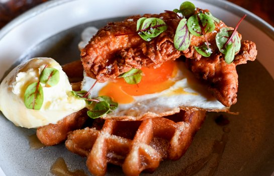 Palm Beach burger joint Burgster launches Sunday brunches featuring fried-chicken waffles and bloody Marys